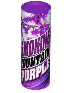 Цветной дым фиолетового цвета