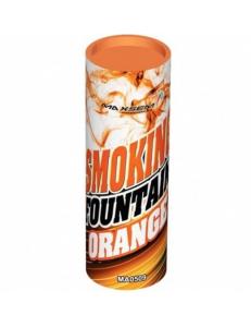 Цветной дым оранжевого цвета