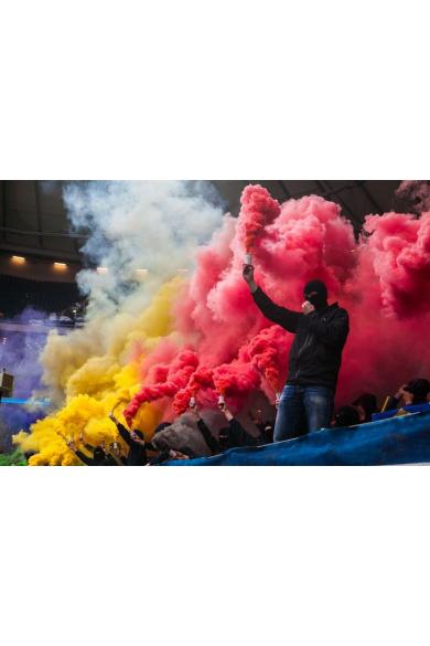 Цветной дым в Ярославле